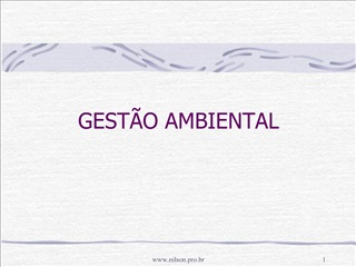 GEST O AMBIENTAL