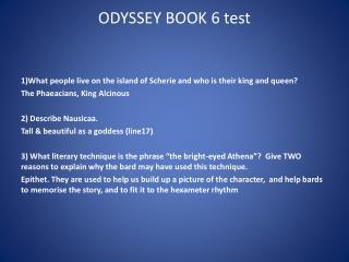 ODYSSEY BOOK 6 test