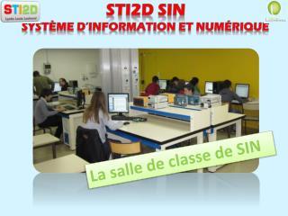 STI2D SIN   Système d'information et numérique