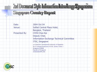 2nd Document Style Information Interchange Symposium