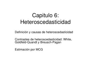 Capitulo 6: Heteroscedasticidad