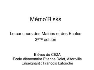 Mémo'Risks
