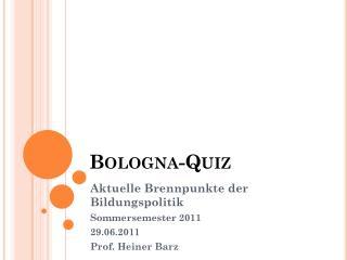 Bologna-Quiz