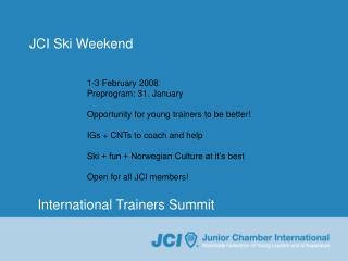 JCI Ski Weekend