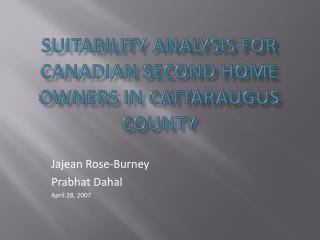 suitability analysis for Canadian second home owners in Cattaraugus County