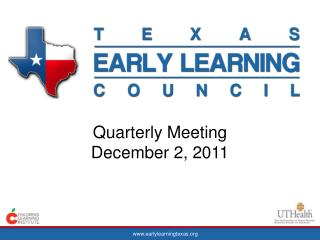 Quarterly Meeting December 2, 2011