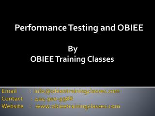 Performance Testing and OBIEE by ObieeTrainingClasses