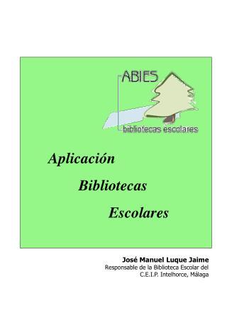 Aplicación Bibliotecas Escolares