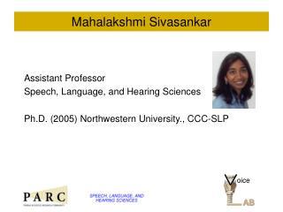 Mahalakshmi Sivasankar