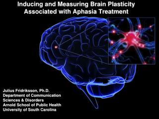 Inducing and Measuring Brain Plasticity Associated with Aphasia Treatment