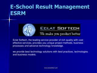 E-School Result Management ESRM