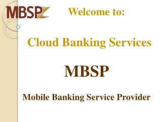 Cloud Banking Services