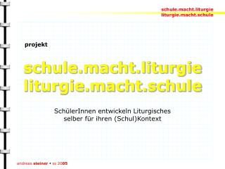 schule.macht.liturgie liturgie.macht.schule