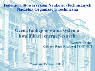 Federacja Stowarzyszeń Naukowo-Technicznych Naczelna Organizacja Techniczna