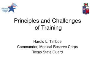 Principles and Challenges  of Training