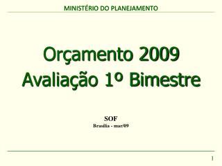 Orçamento 2009 Avaliação 1º Bimestre