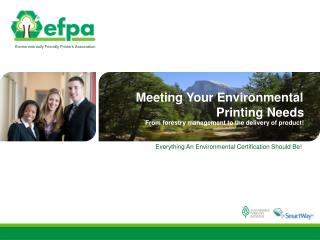 Everything An Environmental Certification Should Be!