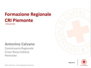 Formazione Regionale CRI Piemonte - 01 Dicembre 2012 -