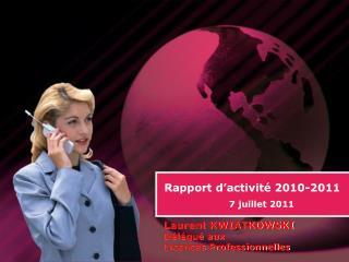 Rapport d�activit� 2010-2011
