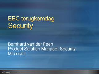 EBC  terugkomdag Security
