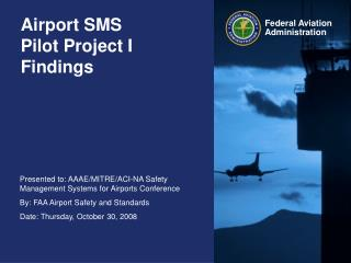 Airport SMS  Pilot Project I Findings