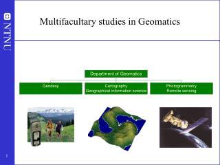 Multifacultary studies in Geomatics