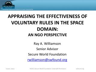 APPRAISING THE EFFECTIVENESS OF VOLUNTARY RULES IN THE SPACE DOMAIN: AN NGO PERSPECTIVE