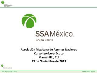 Asociación Mexicana de Agentes Navieros Curso teórico-práctico  Manzanillo, Col