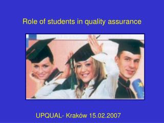 Role of students  in quality assurance