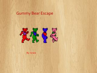 GUMMY BEAR ESCAPE click on the bears to begin