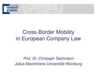 Prof. Dr. Christoph Teichmann Julius-Maximilians-Universität Würzburg