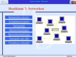 Hoofdstuk 7: Netwerken
