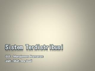 Sistem Terdistribusi