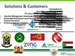 Solutions &  Customers