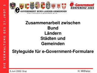 Zusammenarbeit zwischen  Bund  Ländern  Städten und  Gemeinden