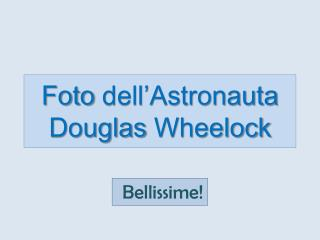 Foto  dell'Astronauta Douglas  Wheelock