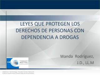 LEYES QUE PROTEGEN LOS DERECHOS DE PERSONAS CON DEPENDENCIA A DROGAS