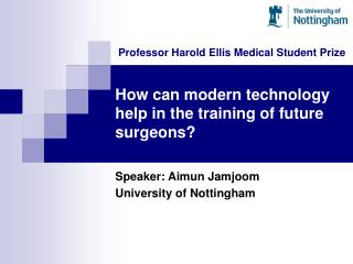 How can modern technology help in the training of future surgeons?