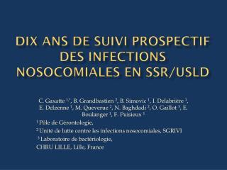 Dix ans de suivi prospectif des infections nosocomiales en  SSR/USLD