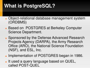 What is PostgreSQL
