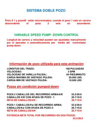 VARIABLE SPEED PUMP- DOWN CONTROL