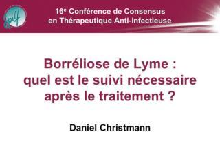Borr liose de Lyme Suivi post-th rapeutique