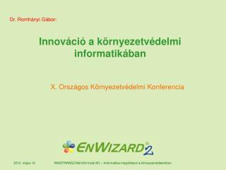 Innováció a környezetvédelmi informatikában