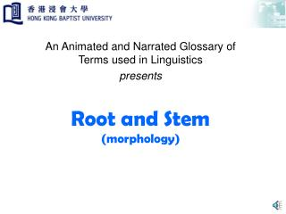 Root and Stem (morphology)