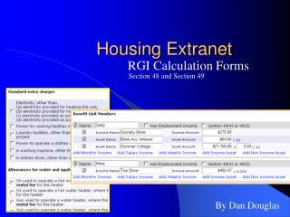 Housing Extranet