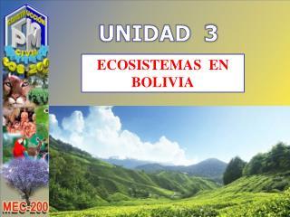 ECOSISTEMAS  EN BOLIVIA