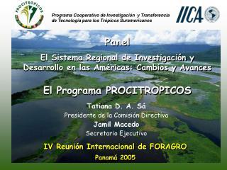 IV Reunión Internacional de FORAGRO Panamá 2005