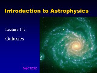 Introduction to Astrophysics