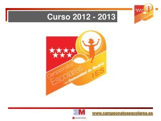 Curso 2012 - 2013