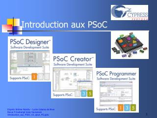 Introduction aux PSoC